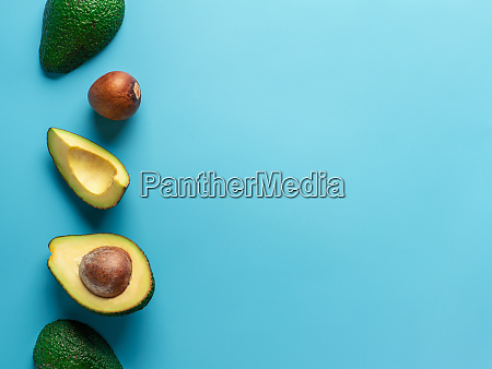 avocado with copy space top view