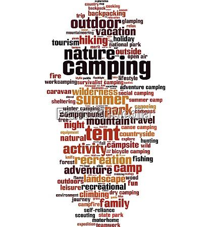 camping wort wolke