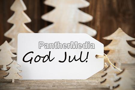 weihnachtsbaum etikett gott jul bedeutet frohe