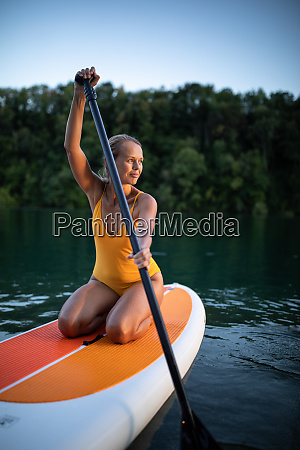 sup stand up paddle board concept
