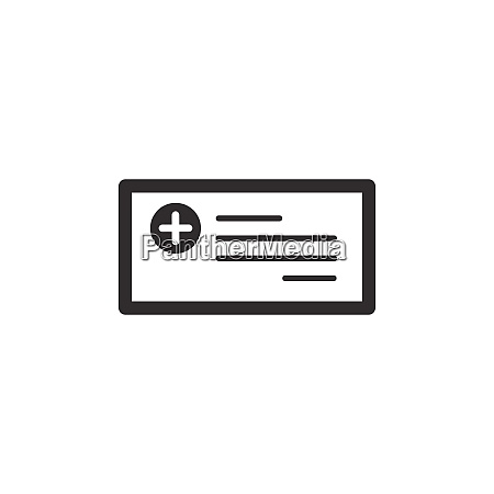 prescription icon isolated image pharmacy and