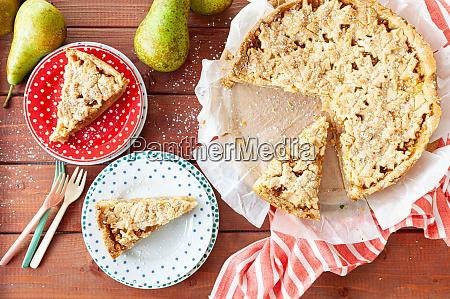 frische fruchtkuchen kuchen mit birnen