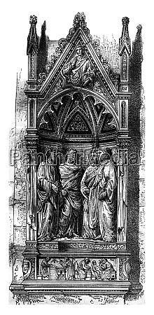 die nische der vier heiligen in