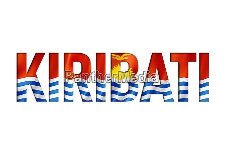 kiribati flagge textschriftart