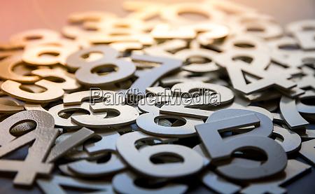 mathematik abstrakten hintergrund mit soliden zahlen