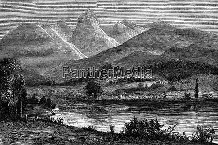 example moraine landscape surroundings of thun