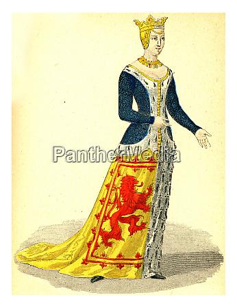 isabella von schottland vintage gravur
