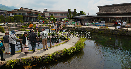 yamanashi japan 28 june 2019 tourist