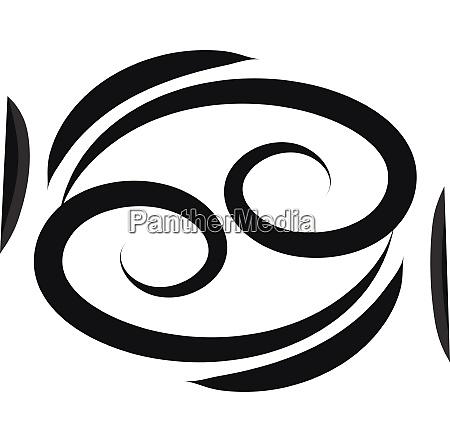 basic black cancer horoscope sign tattoo