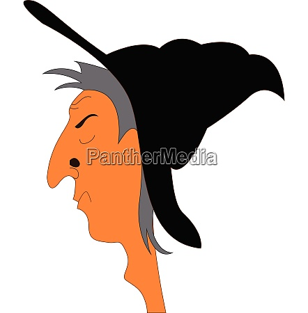 portrait of witch with big nose