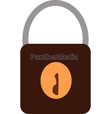 a black and yellow lock vector