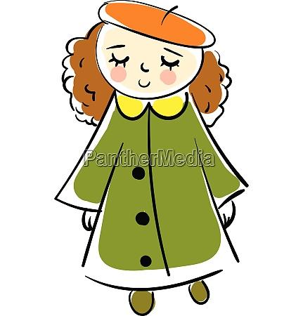 smiling girl in an orange beret