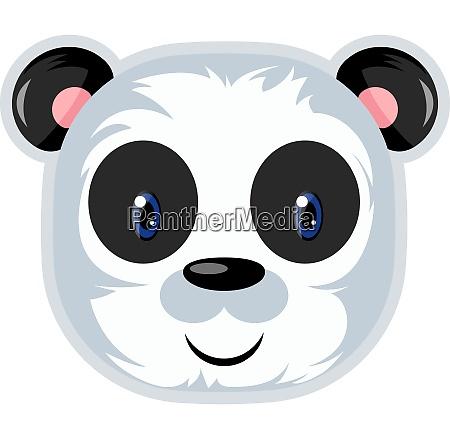netter panda mit blauen augen illustration