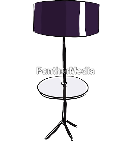 purple floor lamp with a round
