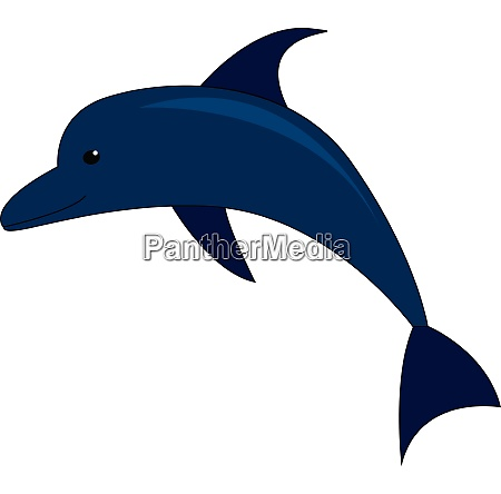 vector illustration of a blue dolphin