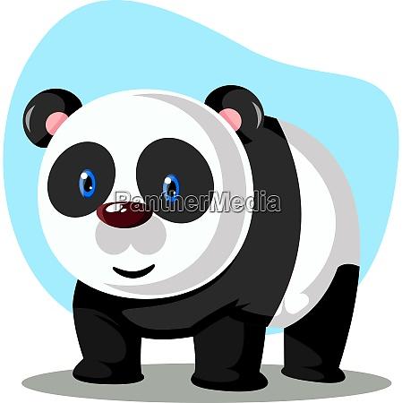 big panda with blue eyes illustration