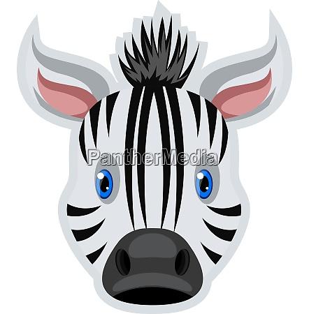 zebra with blue eyes illustration vector