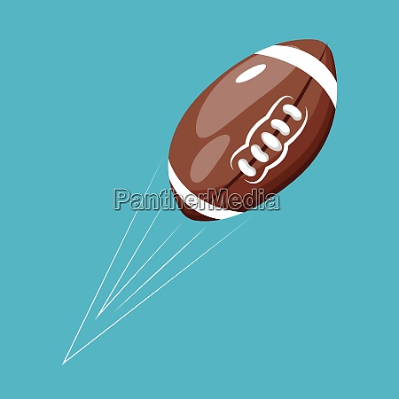 rugby ball vector color illustration