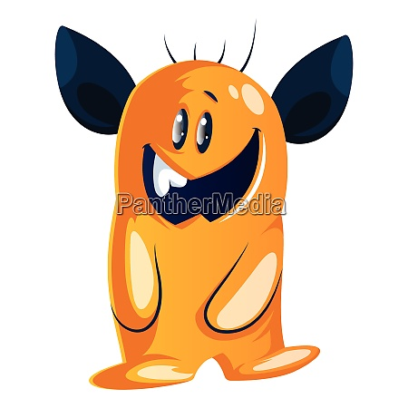 goofy looking yellow cartoon monster with