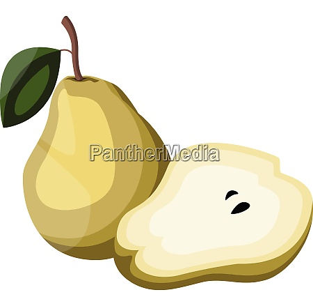 cartoon of a yellow pear