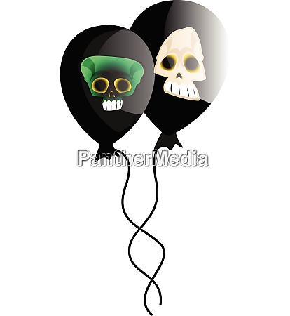 vector illustration of two black baloons