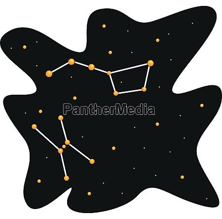 einfaches design von himmel und stern
