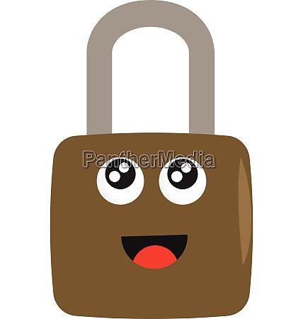 light brown lock with big eyes
