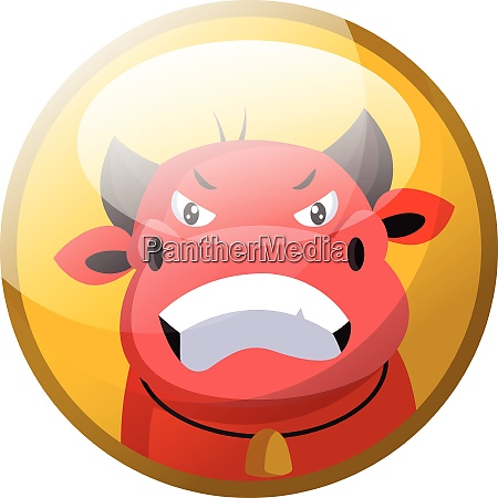 cartoon character of a red angry