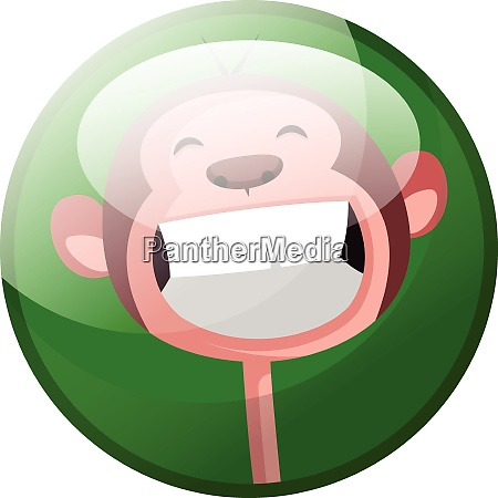 cartoon character of a smiling monkey