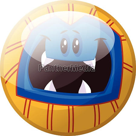 cartoon character of a blue monster