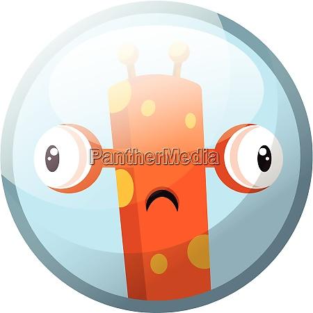 cartoon character of a orange monster
