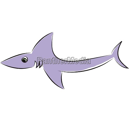light violet shark vector illustration on