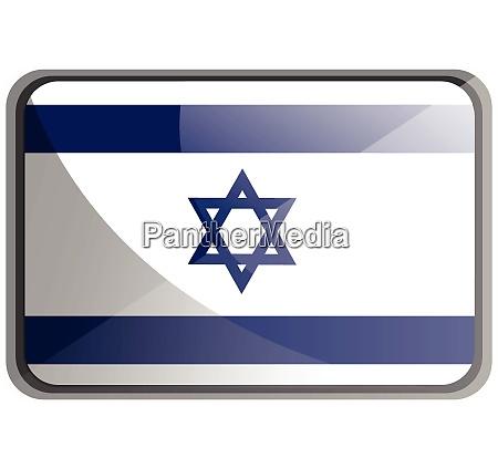 vector illustration of israel flag on