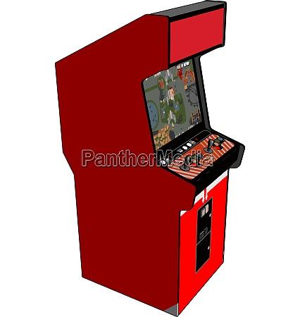vintage red video game vector illustration