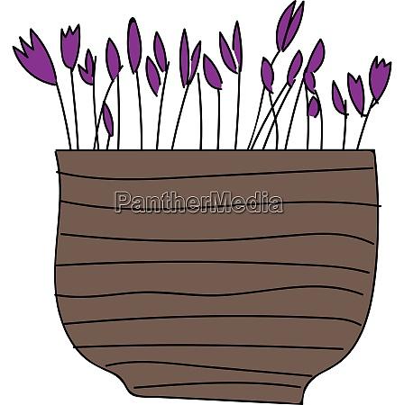 simple vector illustration of purple flowers