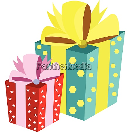 one big gift box with turquoise