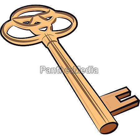 a golden vintage key vector or