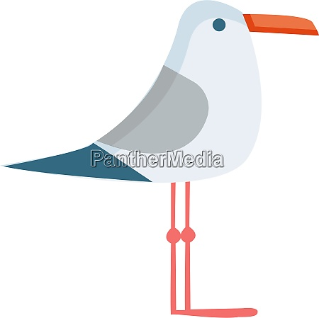 a blue gull vector or color
