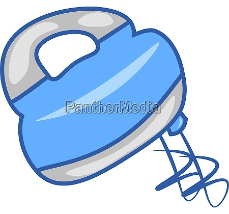 a blue hand mixer vector or