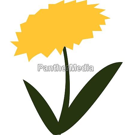bluehende gelbe blume mit gruenen blaettern