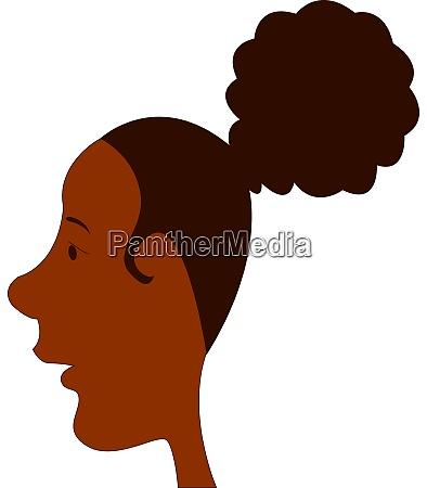 nettes schwarzes maedchen mit lockigen haaren