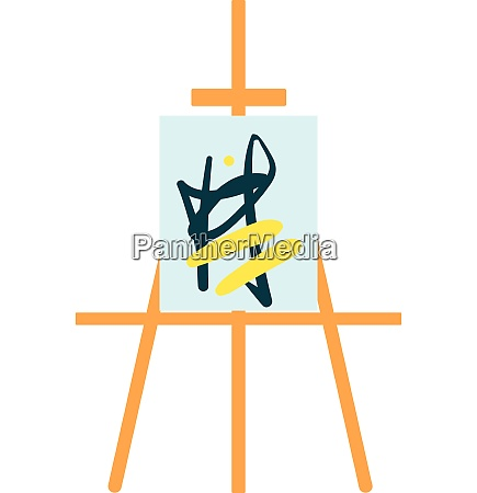 painting stand easel with abstract
