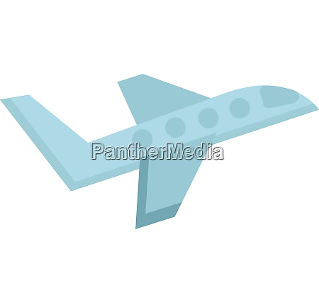 simple drawing of blue airplane