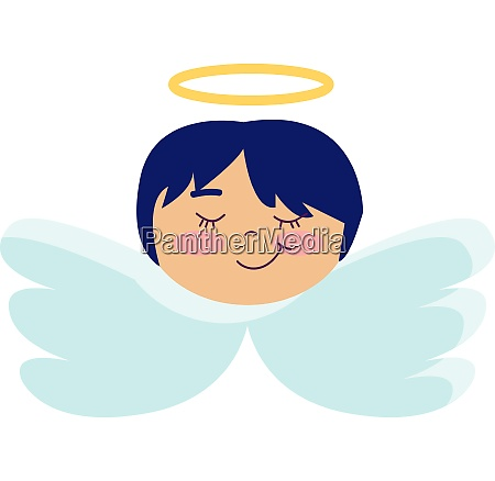 angel with short blue hair