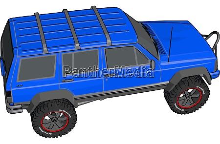 blue off road vehicle illustration vector