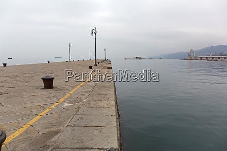 empty pier trieste italy
