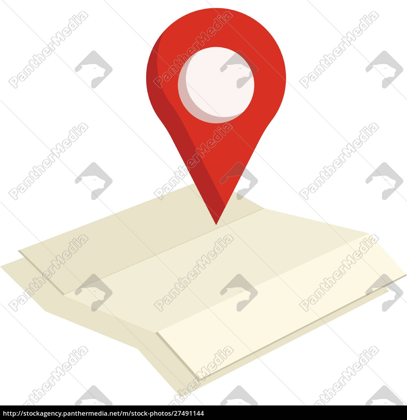 a, location, tag, on, map, vector - 27491144
