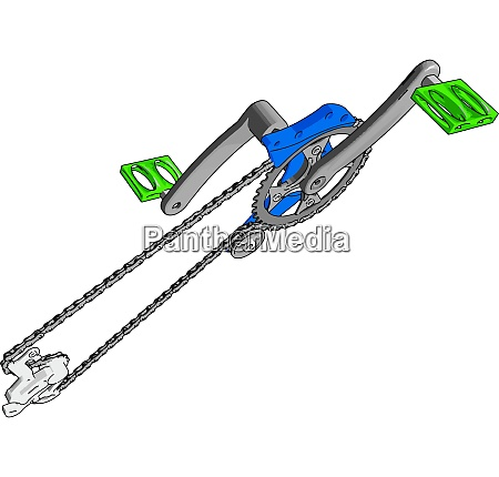 grey crank set for bike with