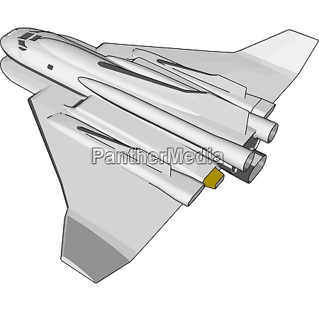 white fantasy space shuttle vector illustration