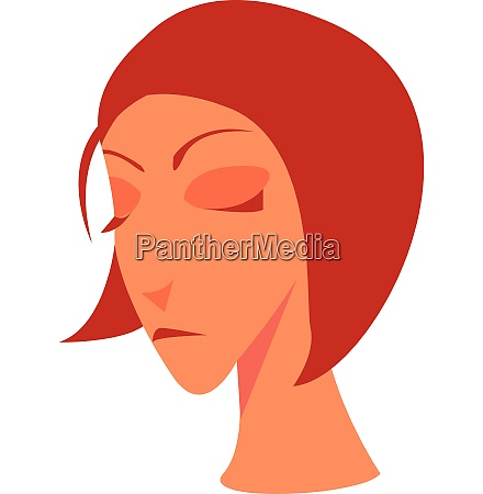 a gloomy looking woman vector or